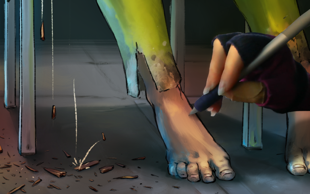 I Made a Process Video About Drawing 1616's Feet